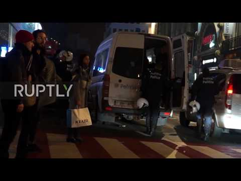 Belgium: Vehicles and buildings smashed up in Brussels riot, 30 detained