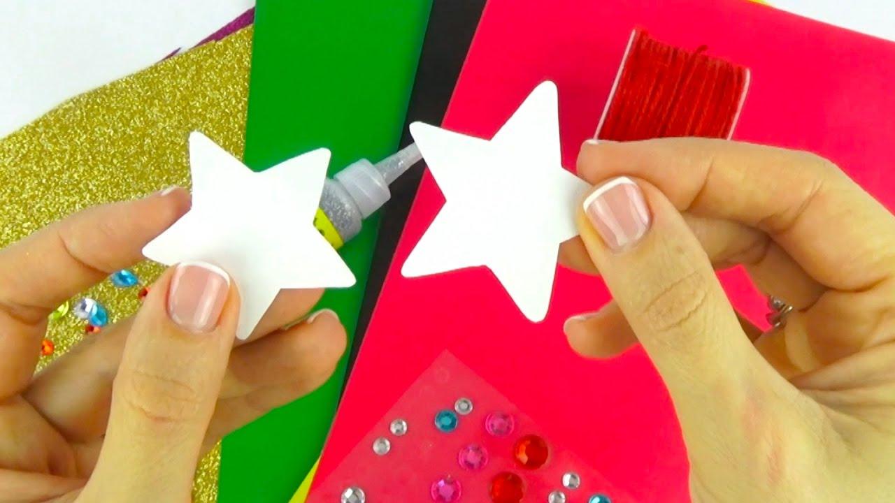 Обучающее видео для детей, учимся делать Новогодние открытки