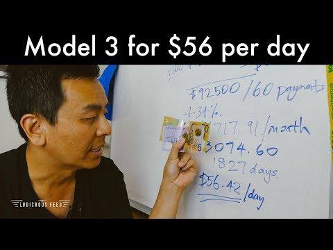 Tesla Model 3 Finance Repayments $56 Per Day   Ludicrous Feed   Tesla Tom