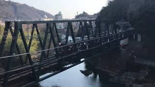 能勢電鉄1752編成プペル電車 @猪名川橋梁