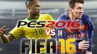 FIFA 16 vs PES 2016 (ps3, Xbox 360) обзор, сравнение от не футбольного профи! (геймплей, графика)