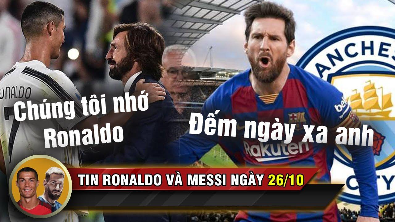 Download TIN RONALDO MESSI 26/10 | HLV Pirlo thừa nhận Juve nhớ Ronaldo - Messi tính đường rời Barca