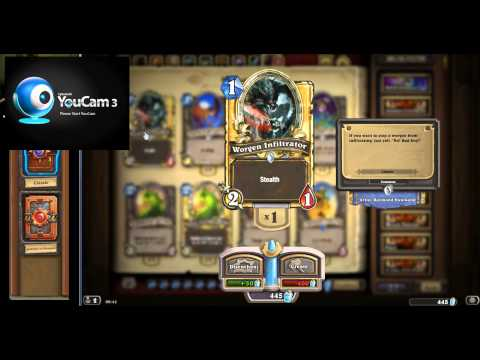 Hearthstone Card Pack Opening | Golden Legendary | Darkspear And TGT Backgrounds