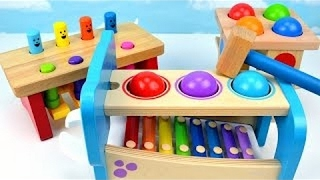 Toddler Best Learning Video Kids Preschool Learn Colors Pounding Ball Toys Xylophone Children Babie