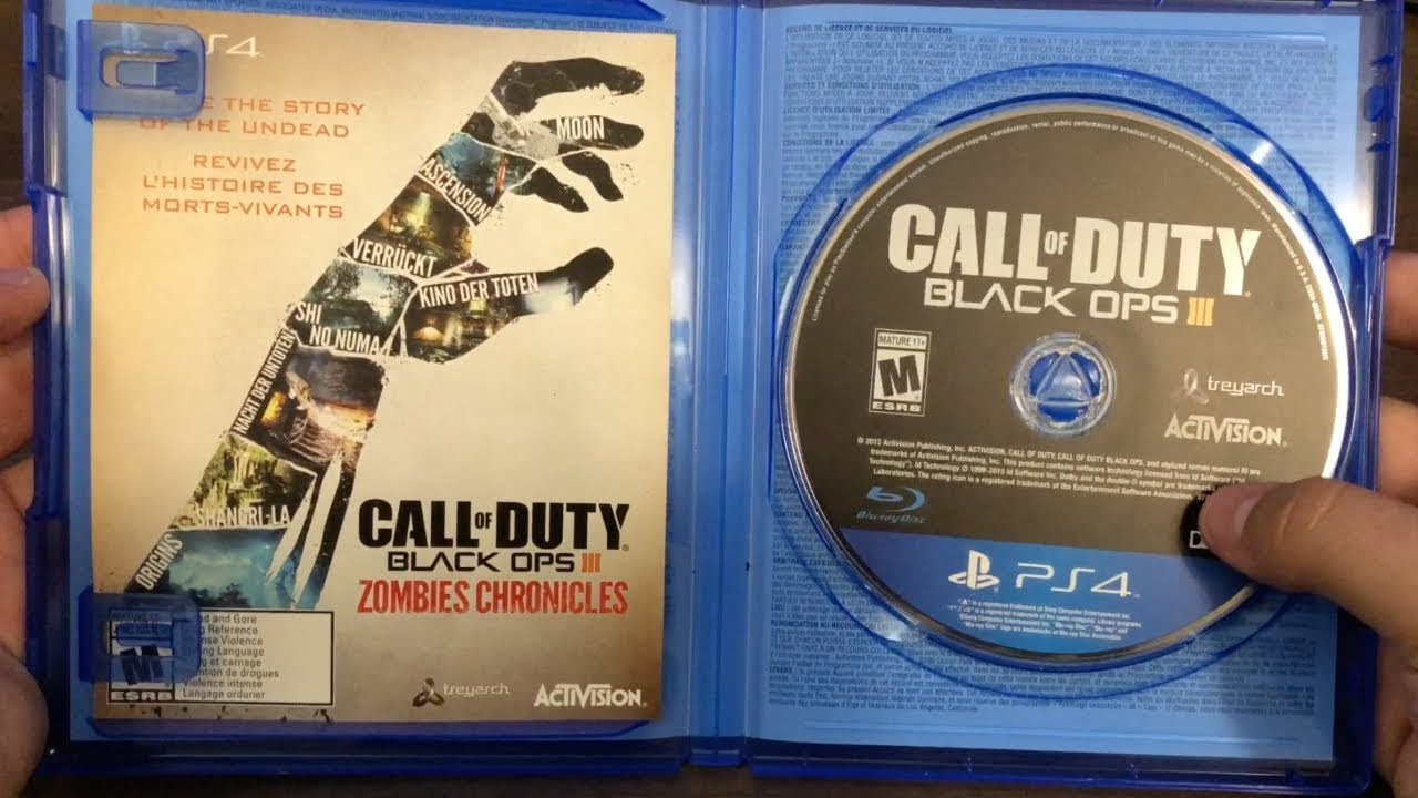 Black Ops Iii Zombies Chronicles Unboxing Ps4 Youtube Sony Playstation 4 Cod Call Of Duty Limited Edition Non Dvd