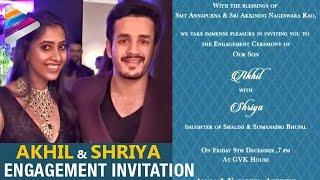 Akhil Akkineni and Shriya Wedding Invitation | Akhil Marriage Invitation | Telugu Filmnagar