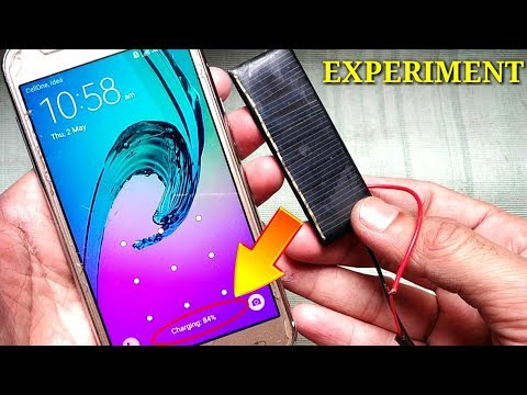 Experiment: Mobile charge without Charger | Solar Panel Mobile Charger Free Energy