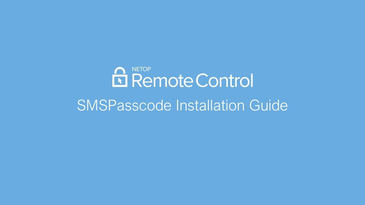 Enable SMS passcode multi-factor authentication with Netop Remote Control