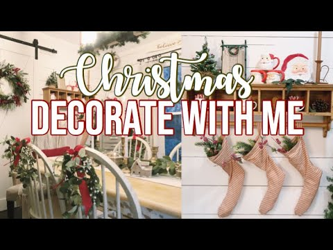 THRIFTMAS | Decorate With Me for Christmas + Stocking DIY 🎄
