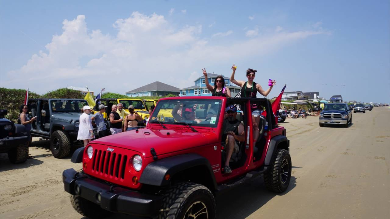 Off-Road Camping on the Beach: Tricked Out Jeeps at ...