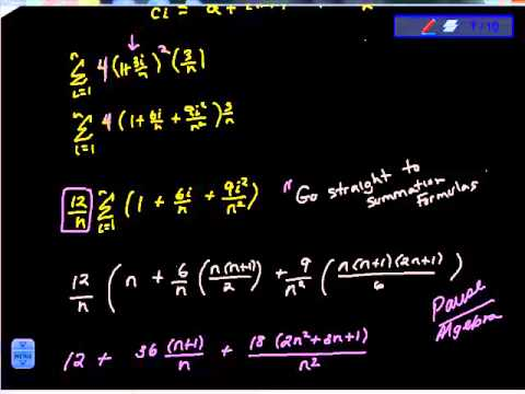 Evaluate the Definite Integral by the Limit Definition 6