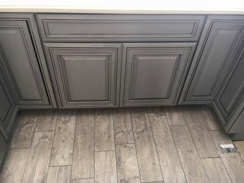 Kitchen Cabinets Painted With Glaze painting and glazing kitchen cabinets - youtube