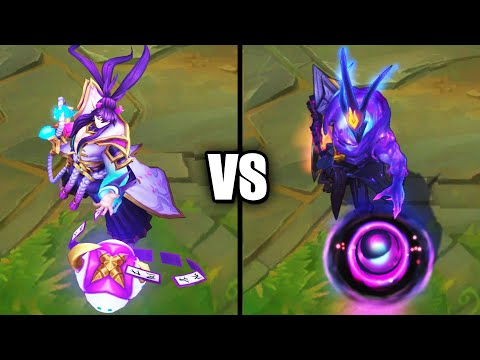 Spirit Blossom Thresh vs Dark Star Thresh Legendary Skins Comparison (League of Legends)