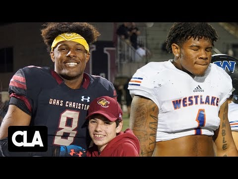 # 1 HSFB Player Kayvon Thibodeaux ALMOST KILLS QB! Oaks Christian vs Westlake Football Rivalry Mix