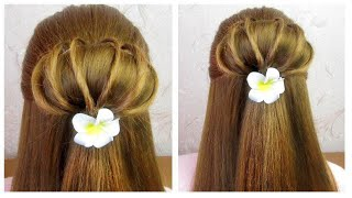 Tuto coiffure simple rapide et belle 🔹 New Quick Easy & Beautiful hairstyle for girls