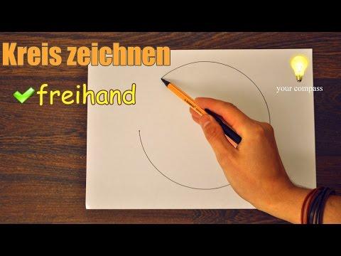 Wie zeichnen einen Kreis FREIHAND/ Einfacher Trick !