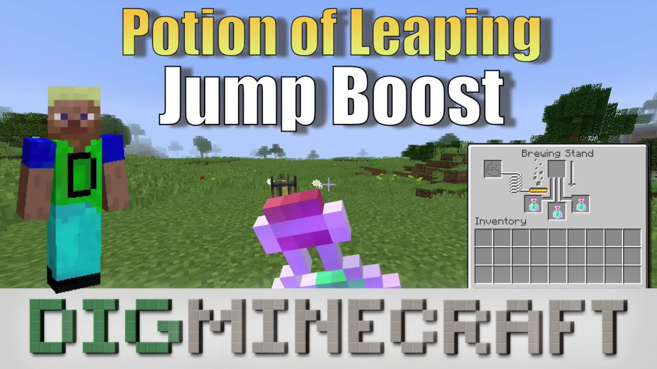 Potion Of Leaping In Minecraft Jump Boost Youtube