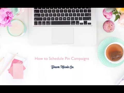 How I Create and Schedule Pinterest Campaigns