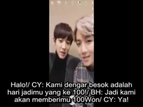 [INDO SUB] Boyfriend Suho making a video call with Chanyeol & Baekhyun
