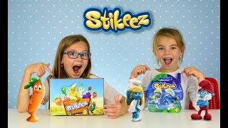 48 STIKEEZ FRUIT AND VEGETABLE VS SMURFS THE LOST VILLAGE LIDL STIKEEZ REVIEW FULL