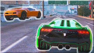 GTA 5 Funny Moments - CRAZY BATTLE!  (GTA V Online Stunts & Race)
