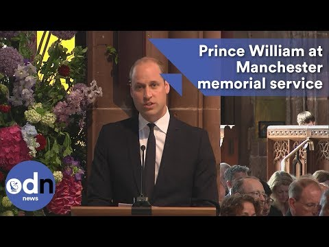Prince William gives reading at Manchester memorial