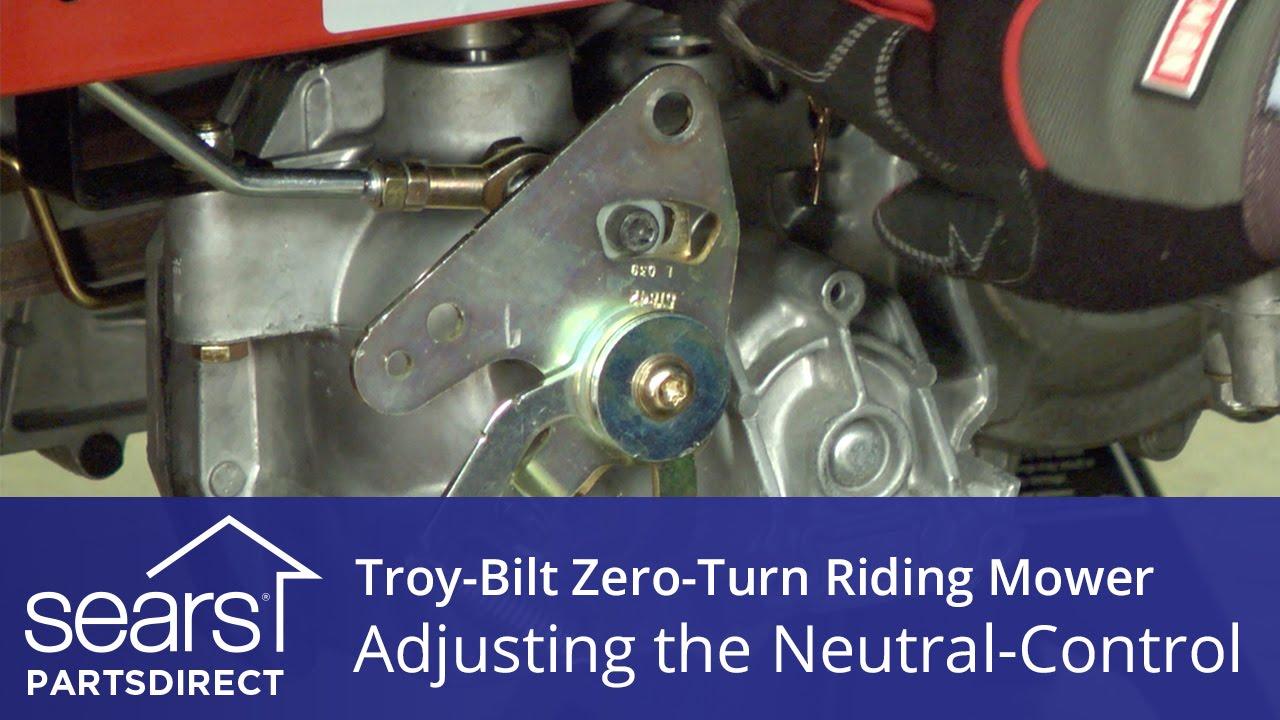 How to Adjust a Troy-Bilt Zero-Turn Riding Mower Neutral Control