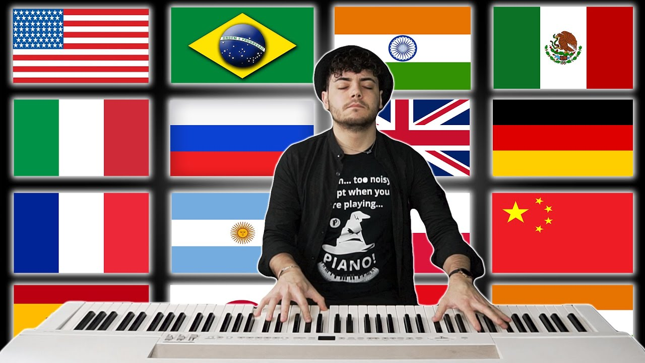 Download 1 PIANO - 15 NATIONAL ANTHEMS