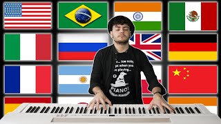 1 PIANO - 15 NATIONAL ANTHEMS
