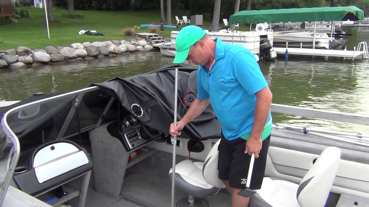Boatvent Ii Cover Support System Youtube