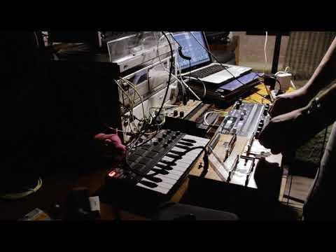 DIY Noise box, Drumbrute Impact, Volka Keys Live Jam