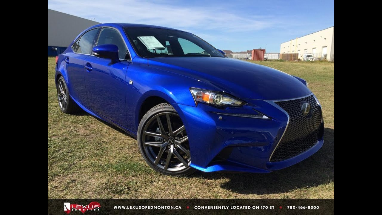 new ultra sonic blue 2015 lexus is 250 awd f sport series 3 in depth review southeast edmonton. Black Bedroom Furniture Sets. Home Design Ideas
