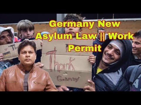 Germany New Asylum Law || Work Permit