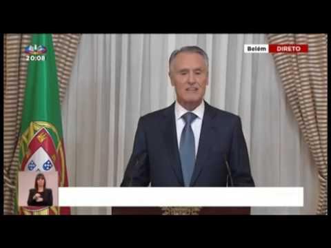 Portugal president Cavaco Silva's television address, 22/10/2015