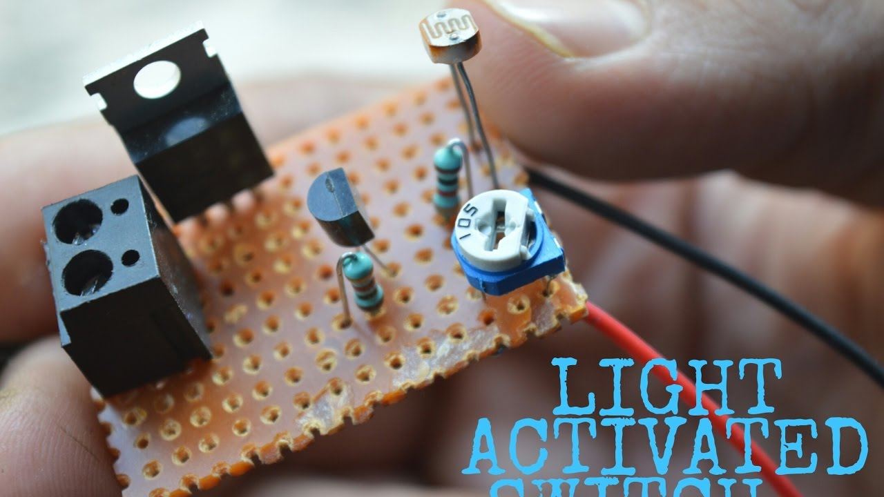 Light Activated Switch Using LDR & TRIAC - YouTube