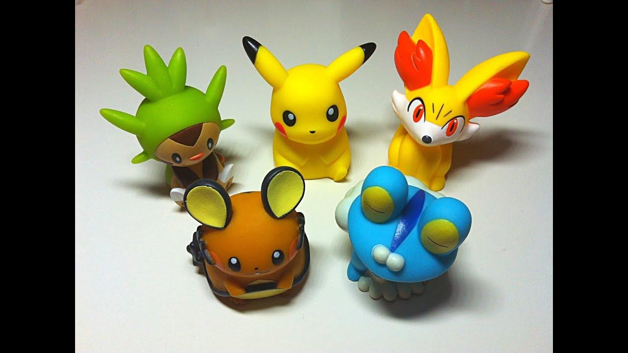 Squishy Pokemon Toys : Close-Up: Pokemon & Friends Soft Mascot Set of 5 - YouTube