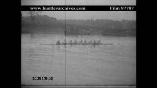 1932 Oxford and Cambridge Boat Race.  Archive film 97787