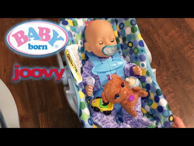 Baby Born Flynn\'s New Joovy Doll Car Seat - Clip.FAIL
