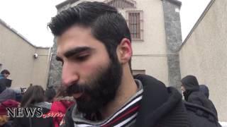 «Ղարաբաղն Ադրբեջան չէ»  հայ երիտասարդների բողոքի ակցիան` ի պաշտպանություն Լապշինի