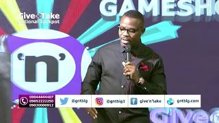 Okey bakassi was at the Give'n'take National Jackpot TV Game Show last Sunday 17th September 2017