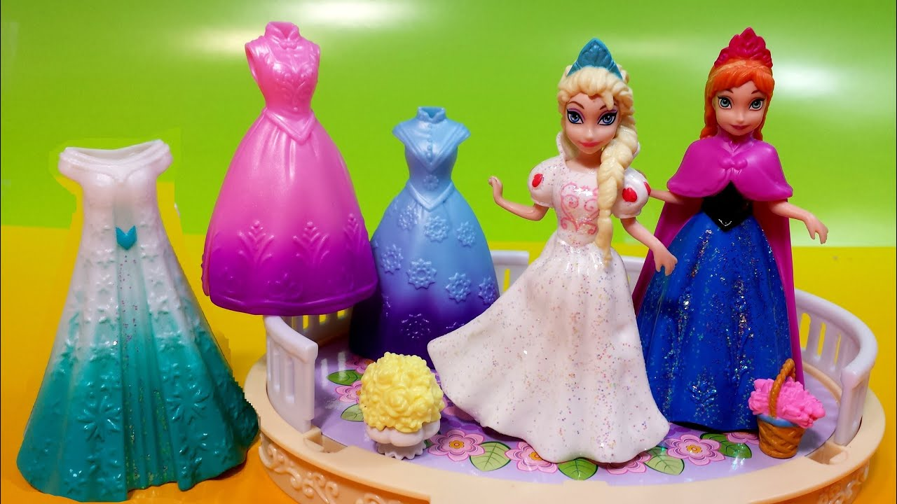 Dress up princess doll - Disney Princess Magiclip Collection Frozen Movie Queen Elsa And Anna Dress Up Dolls Msdisneyreviews Youtube