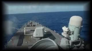 USS Lassen Destroyer in South China Sea