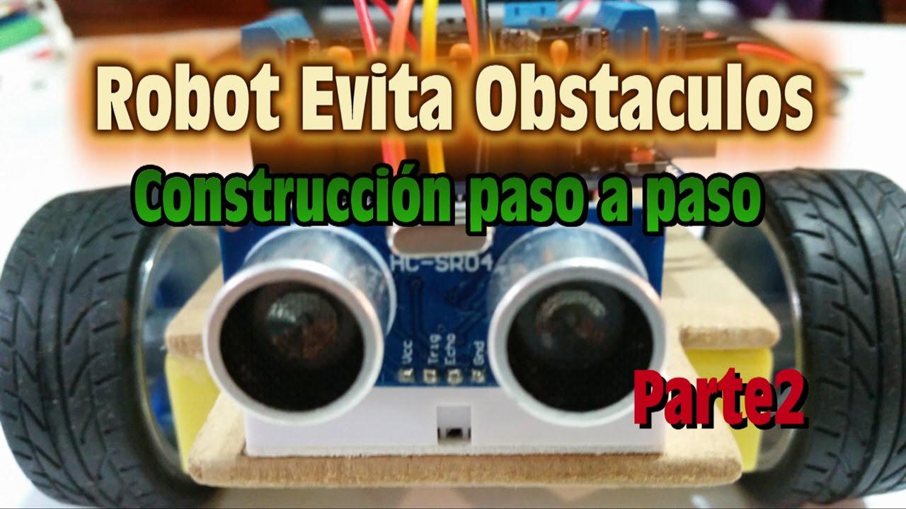 Robotica robot evita obstaculos construccion paso a