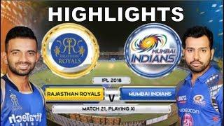MI vs RR Full Match Highlights Extended - IPL 2018 - Mumbai Indians vs Rajasthan Royals