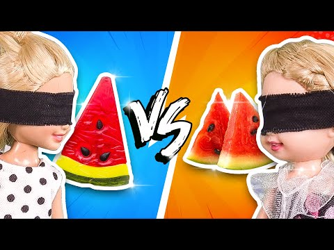 Barbie - Gummy Food vs Real Food Challenge | Ep.111