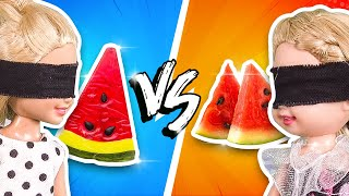 Barbie - Gummy Food vs Real Food Challenge