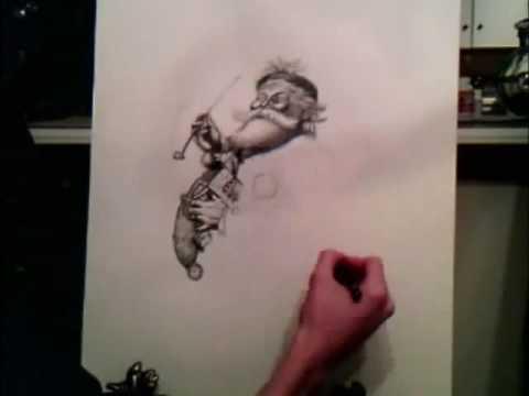 Speed Drawing of Thomas Nast