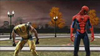 Spiderman Web of Shadows PC - Symbiote Wolverine Fight Red Suit Ending