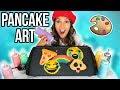 DIY Edible Emojis! 😂 PANCAKE ART CHALLENGE! 🥞 Natalies Outlet Dos