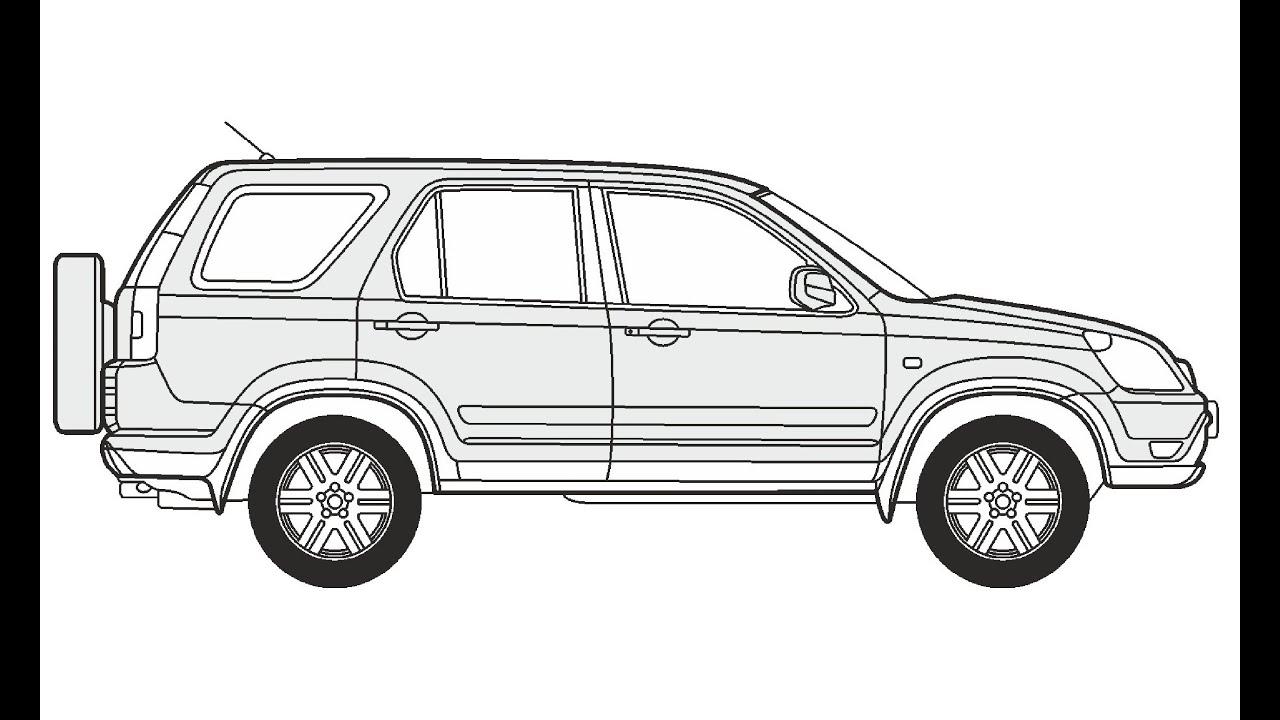 How To Draw A Honda Cr V Honda Cr V